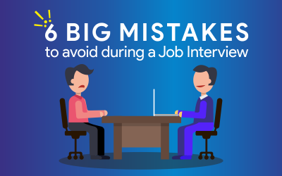 6 Big mistakes to avoid during a Job Interview
